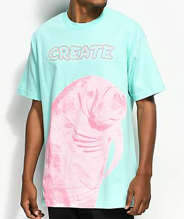 Create Manatee Mint T-Shirt