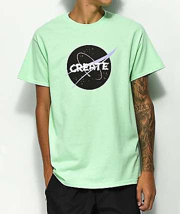 Create NASA camiseta verde menta