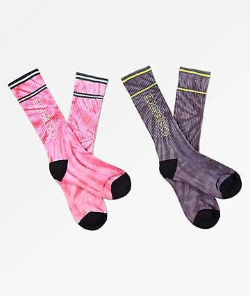 Create Tie Dye 2 Pack Crew Socks
