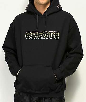 Create Tokyo sudadera negra con capucha