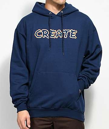 Create Wobble Navy Hoodie