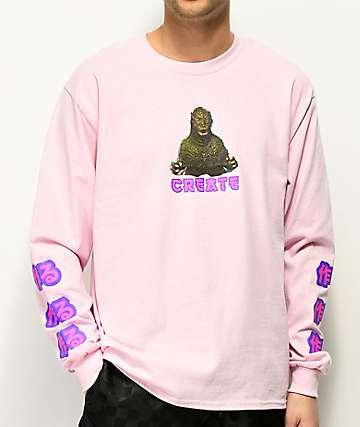 Create Zilla Pink Long Sleeve T-Shirt