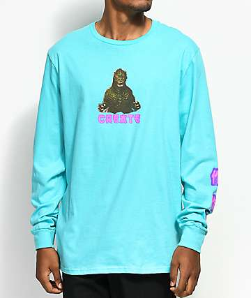 Create Zilla Scuba Blue Long Sleeve T-Shirt