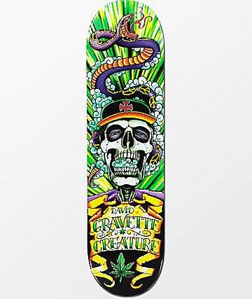 "Creature Gravette Hippie Skull 4 8.25""  Skateboard Deck"