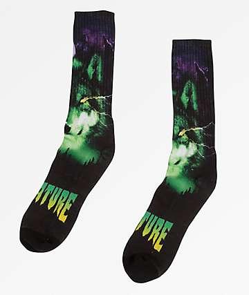Creature Shroud Black Crew Socks