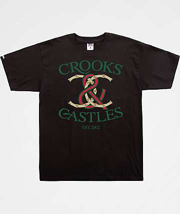 Crooks & Castles Bamboo Lock Black T-Shirt