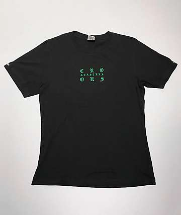 Crooks & Castles Bandana Black & Green T-Shirt