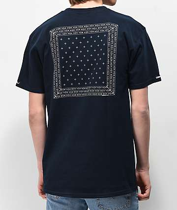 Crooks & Castles Bandana Navy Short Sleeve T-Shirt