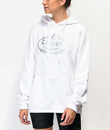 Crooks & Castles Barbed Gothic White Hoodie