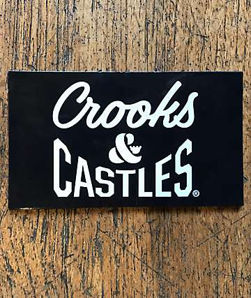 Crooks & Castles Box Logo Sticker