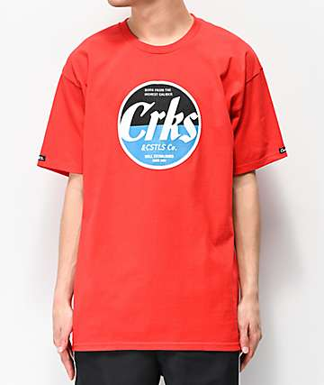 Crooks & Castles C Caliber Red T-Shirt