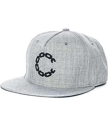 Crooks & Castles Chain C Grey Snapback Hat