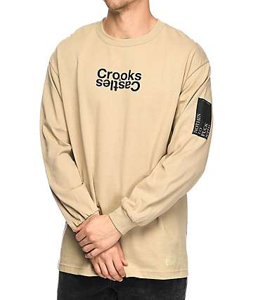 Crooks & Castles Covert Track Khaki Long Sleeve T-Shirt
