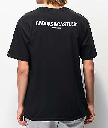 Crooks & Castles Dungeon C Black T-Shirt