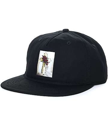 Crooks & Castles Eulogy Black Snapback Hat
