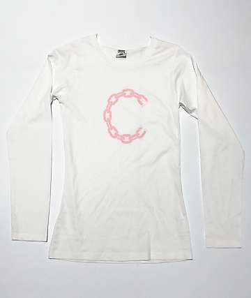 Crooks & Castles New Chain White Long Sleeve T-Shirt