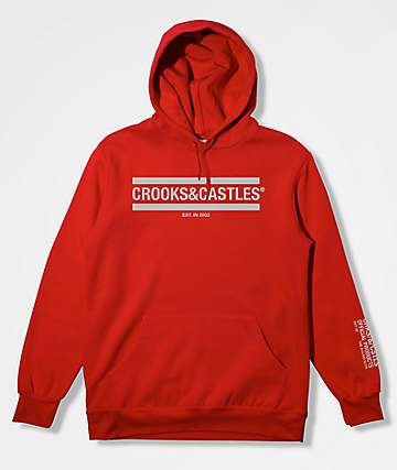 Crooks & Castles New Core Red Hoodie