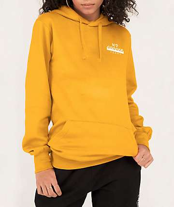 Crooks & Castles No Love Femme Gold Hoodie