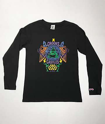 Crooks & Castles Secret Society Black Long Sleeve T-Shirt