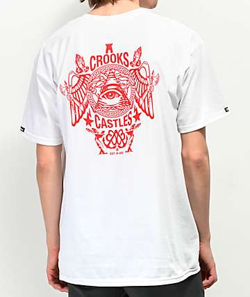 Crooks & Castles Secret Society White T-Shirt