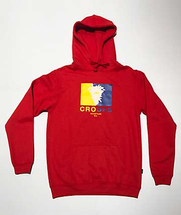 Crooks & Castles Striped Bandito Red Hoodie