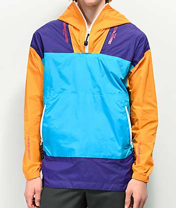 Crooks & Castles Tech Core Teal Anorak Jacket