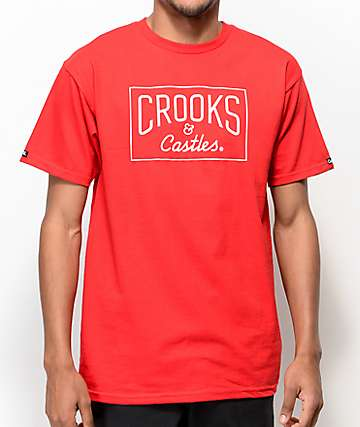 Crooks & Castles Core Logo Red T-Shirt