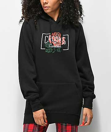 Crooks & Castles Core Rose Black Hoodie