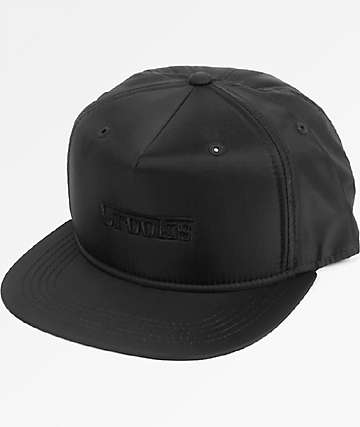 Crooks & Castles F-1 Black Snapback Hat