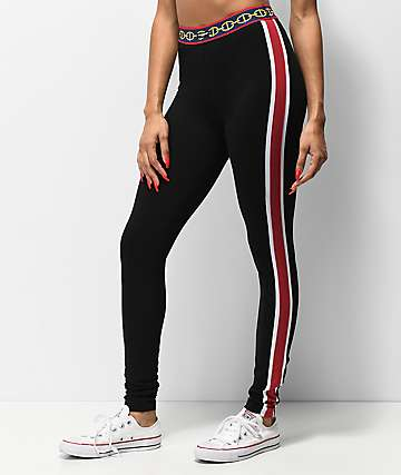 Crooks & Castles Femme Links Black Leggings