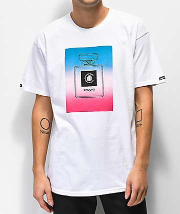 Crooks & Castles Gradient Parfum White T-Shirt