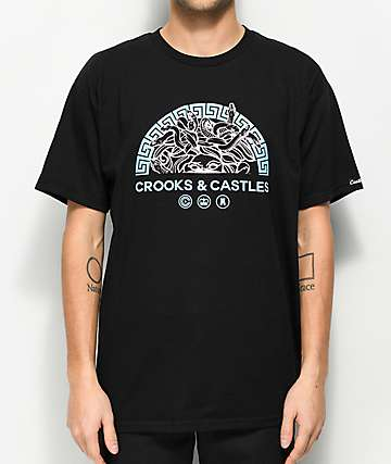 Crooks & Castles Half Bandusa Black T-Shirt