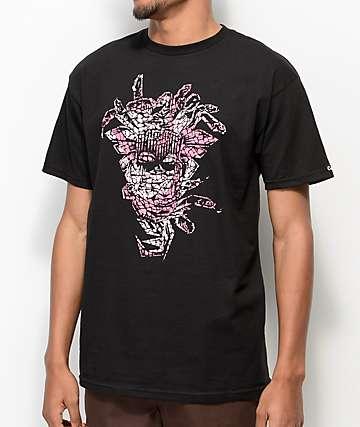 Crooks & Castles Jungle Medusa Black & Pink T-Shirt