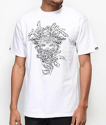 Crooks & Castles Jungle Medusa White T-Shirt