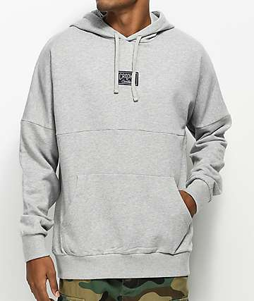 Crooks & Castles Logo Dolman Grey Hoodie