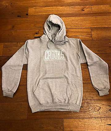 Crooks & Castles Momentum Lock Up Grey Hoodie