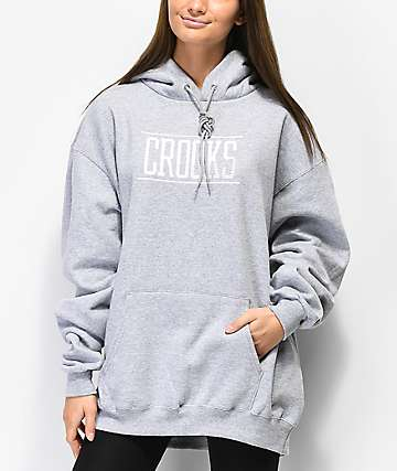 Crooks & Castles Momentum Lock Up Heather Grey Hoodie
