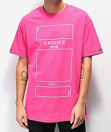 Crooks & Castles Parfum Pink T-Shirt