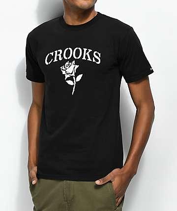 Crooks & Castles Rose Black & White T-Shirt