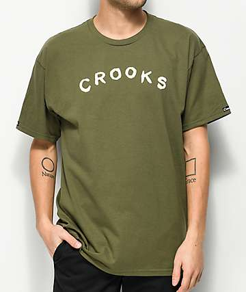 Crooks & Castles Sin Army Green T-Shirt