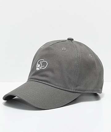 Crooks & Castles Skull Dark Taupe Strapback Hat