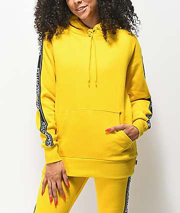 Crooks & Castles Taped Yellow Hoodie