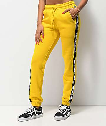 Crooks & Castles Taped Yellow Sweatpants