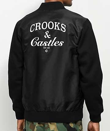 Crooks & Castles Timeless Medusa Black Flight Jacket