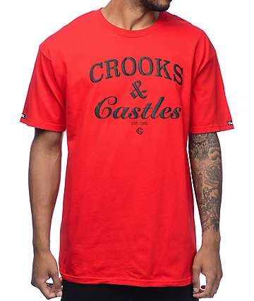 Crooks & Castles Timeless Red T-Shirt