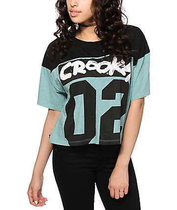 Crooks and Castles All City Box Crop T-Shirt