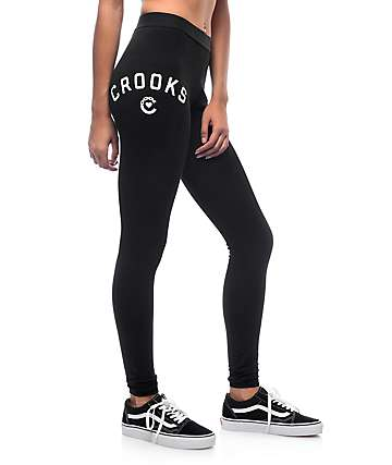 Crooks and Castles Midnight Black Leggings