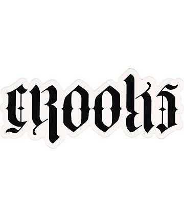 Crooks and Castles Script Sticker