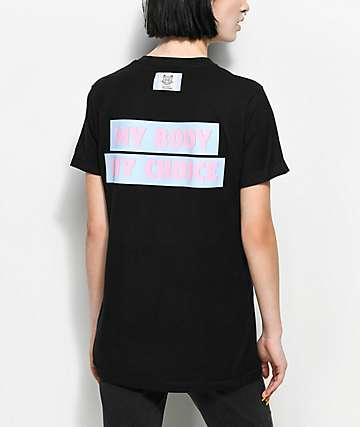 Cross Colors My Body My Choice camiseta negra