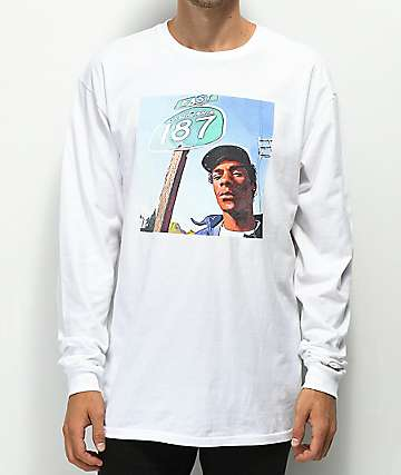 Cross Colours 90's Legends Snoop White Long Sleeve T-Shirt